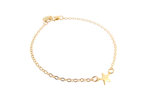 Mini Star Bracelet Gold, Silver, Rose Gold-