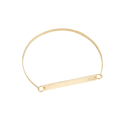 Lara Bangle - Skinny Bar on Bangle in Gold and Silver colors