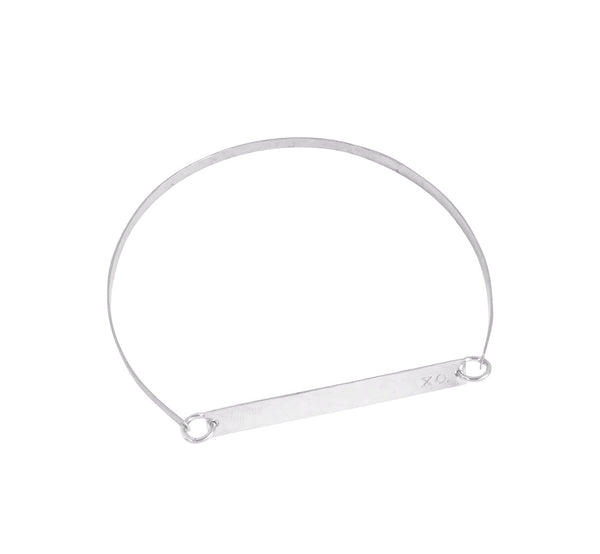 Lara Bangle - Skinny Bar on Bangle in Silver color