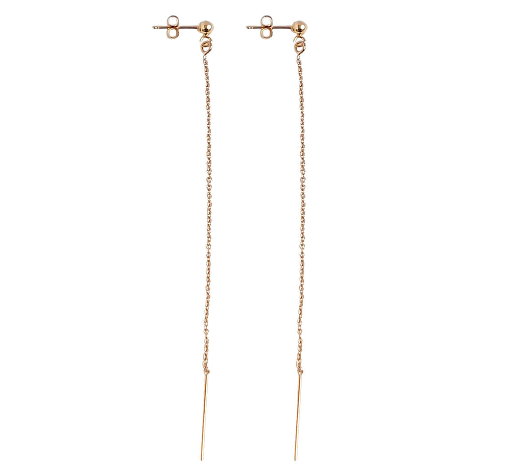 Long Line Earring - Gold, Silver, Rose Gold >>