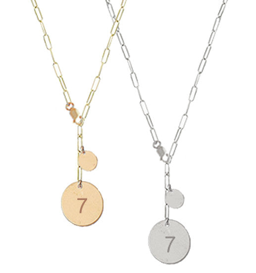 "Lucky ""7"" Necklace - Gold, Silver >>"
