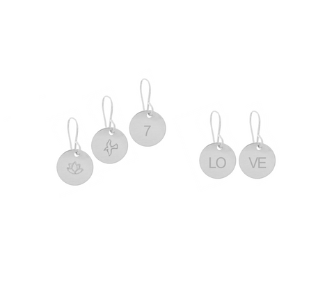 Mini Disc Earrings in Silver Color