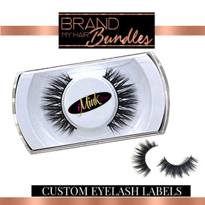 Custom Designed Eyelash Label