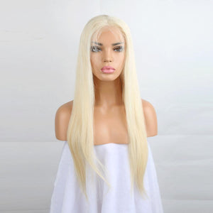 #613 Blonde Full Lace Wig Straight Brazilian 130%