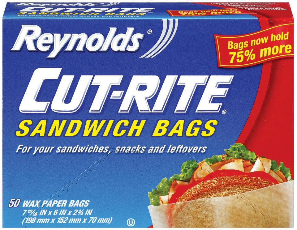 Reynolds Cut Rite Wax Paper Bags, 50 ct