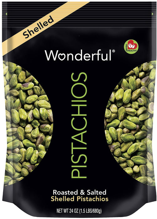 Wonderful Shelled Pistachios, 24 oz