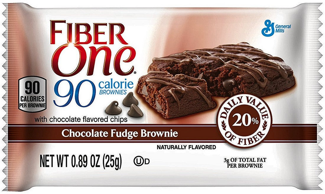 Fiber One Chocolate Fudge Brownies, Value Pack, 38 x 0.89 oz