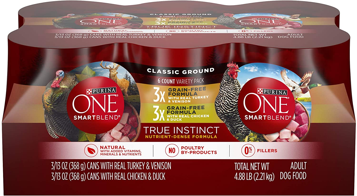 Purina One Smartblend True Instinct Canned Food For Adult Dogs, 12 x 13 oz