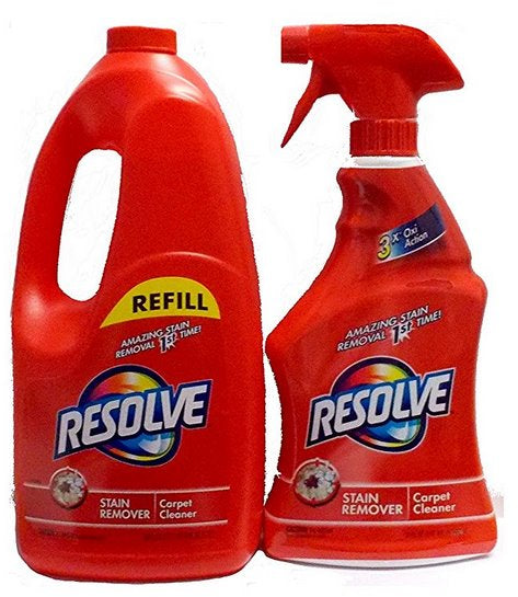 Resolve Stain Remover Carpet Cleaner, Spray & Refill, 60 + 22 oz