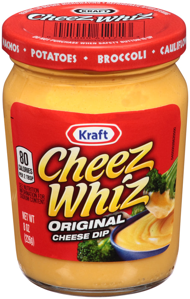 Kraft Cheez Whiz Original Cheese Dip, 8oz