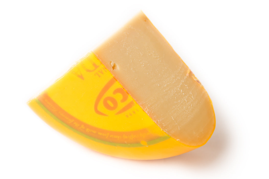 Gouda Jong Belegen Kaas, Cheese Piece, Quart Size