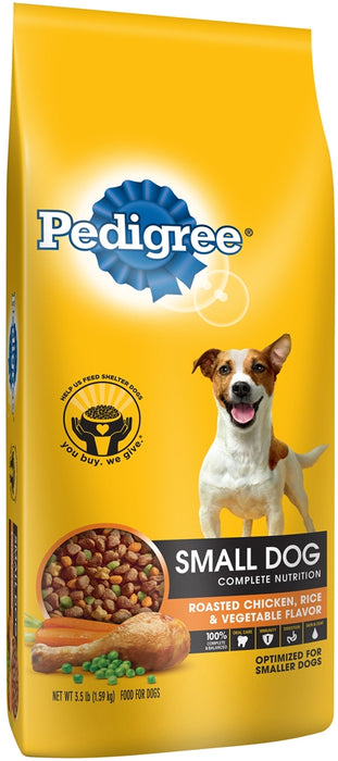 Pedigree Small Dog 100% Complete Nutrition Dog Food, 3.5 lbs