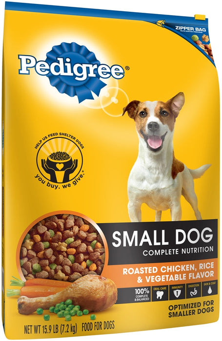 Pedigree Small Dog 100% Complete Nutrition Dog Food, 15.9 lbs