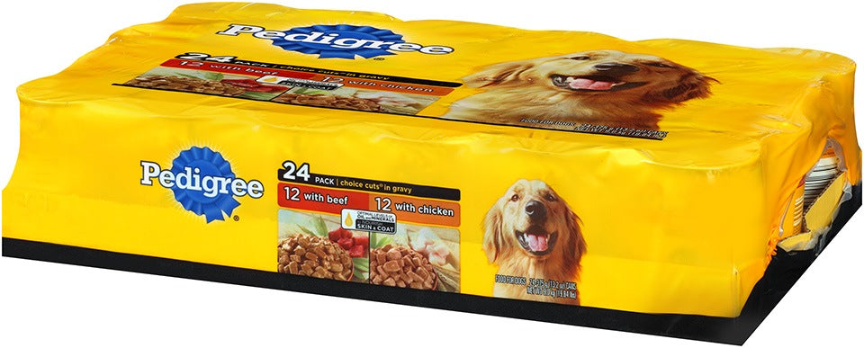 Pedigree Choice Cut in Gravy Dog Food Variety Pack, 24 ct