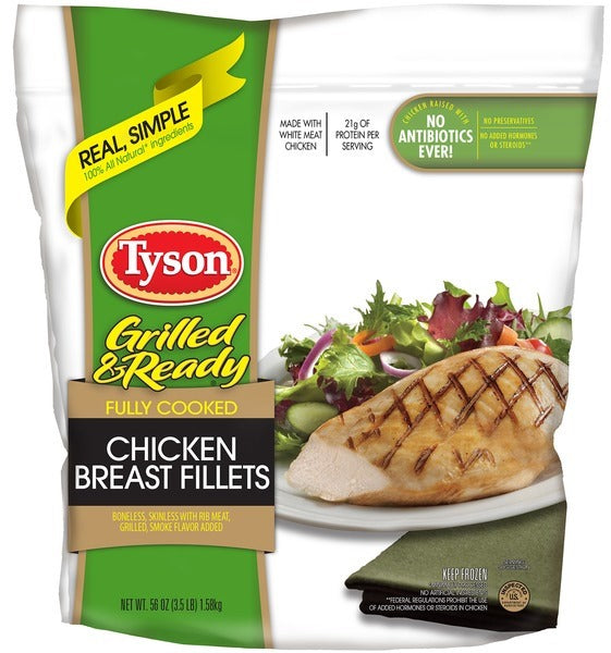 Tyson Grilled & Ready Chicken Breast Fillets, 1.59 kg