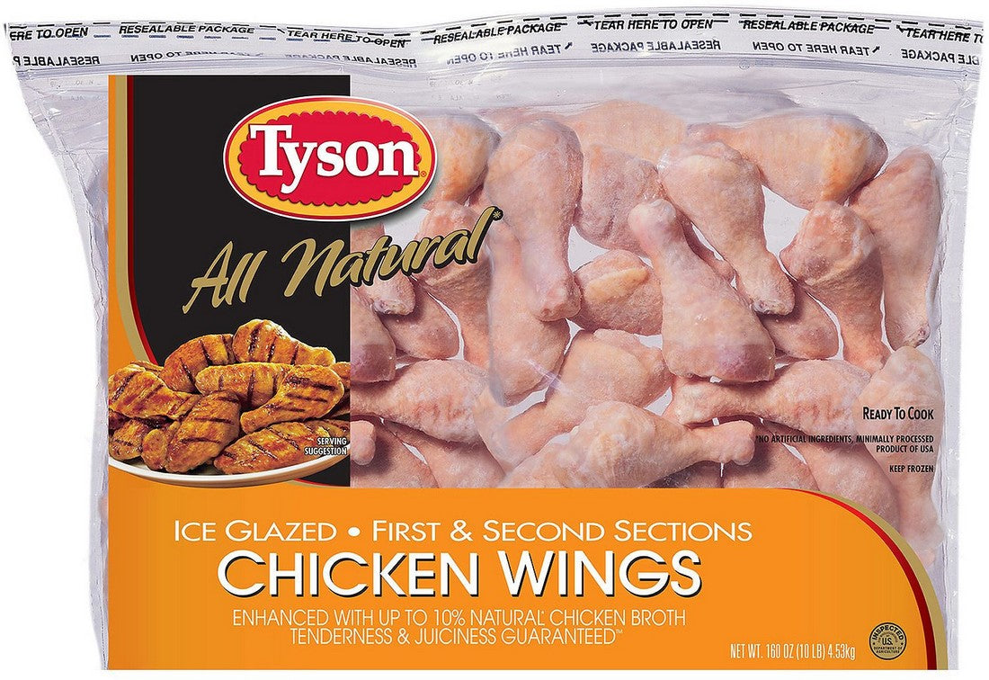 Tyson All Natural Raw Chicken Wings, 80 oz (5 lbs)