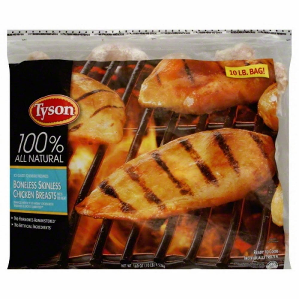 Tyson Boneless Skinless Chicken Breasts, 10 lbs