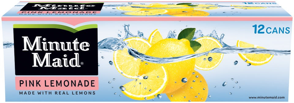 Minute Maid Pink Lemonade, 12 x 12 oz