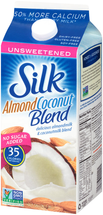 Silk Almond Coconut Milk Blend, No Sugar Added, 1.89 L