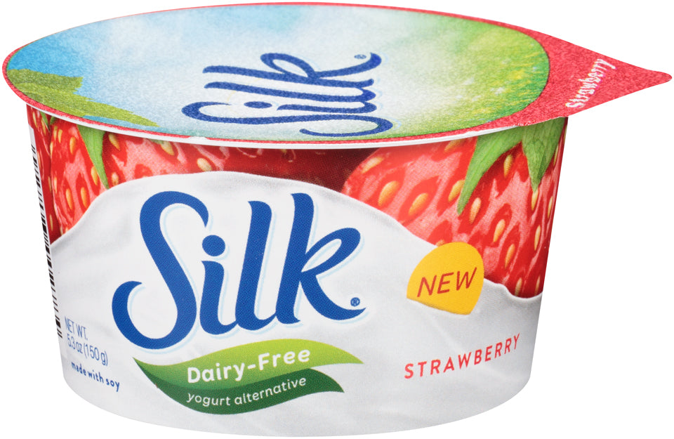 Silk Dairy-Free Yogurt Alternative, Strawberry, 5.3 oz, 5.3 oz