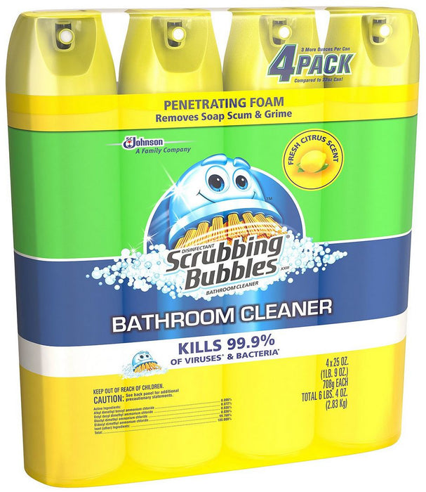 Scrubbing Bubbles Bathroom Cleaner, 4 x 25 oz