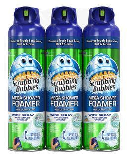 Scrubbing Bubbles Mega Shower Foamer with Ultra Cling, 3 x 20 oz