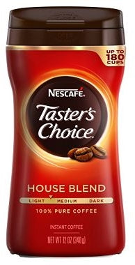 Nescafe Taster's Choice House Blend 100% Pure Instant Coffee, 12 oz (340 gr)