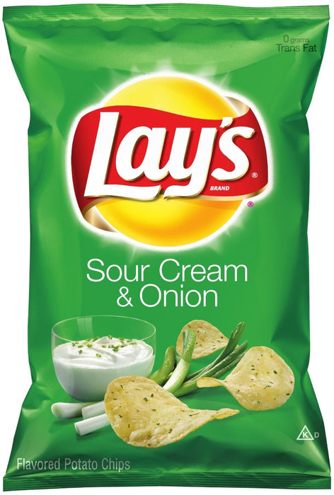 Lay's Sour Cream & Onion Flavored Potato Chips, 6.5 oz