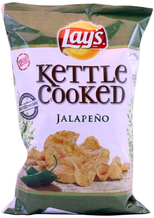 Lays Kettle Cooked Jalapeno, 6.5 oz