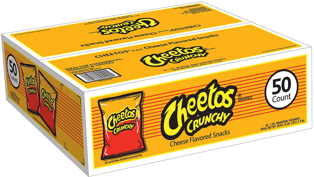 Cheetos Crunchy Cheese Flavored Snacks, 50 x 1 oz
