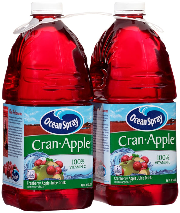 Ocean Spray Cran-Apple Cranberry Apple Juice Drink, 2 x 96 oz