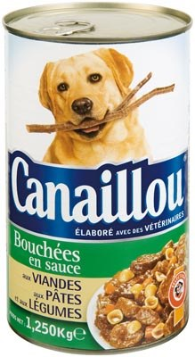 Canaillou Dog Food, with Meat, Pasta and Vegetables, 1.25 kg