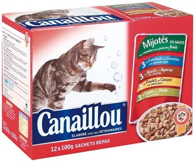 Canaillou Cat Meals in Sauce, 12 ct