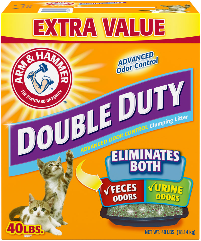 Arm & Hammer Double Duty, Advanced Odor Clumping Cat Litter, 40 lb