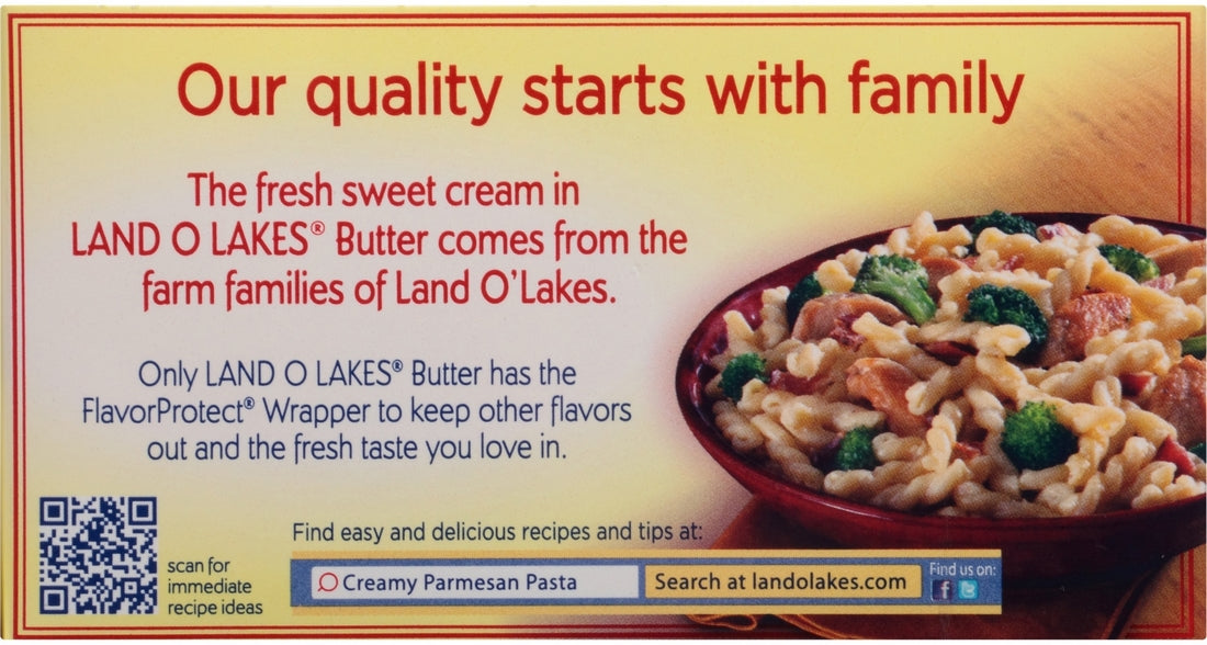 Land O Lakes Butter, Sweet Cream Salted, Four Sticks, 1 lbs
