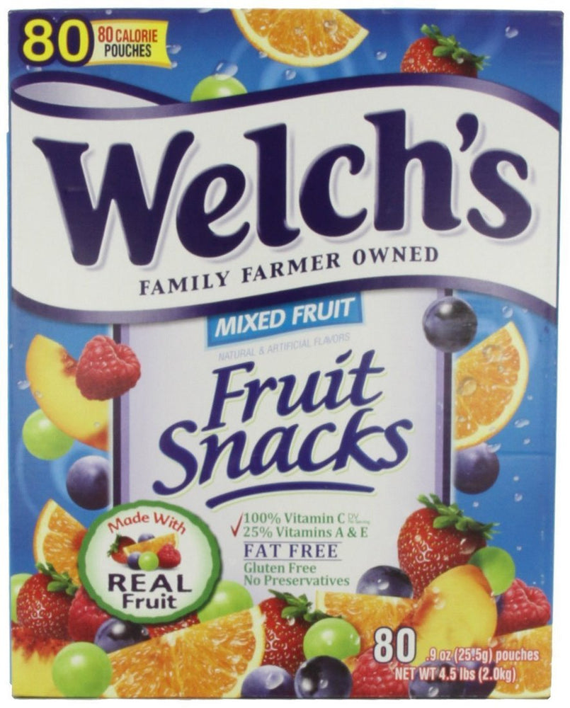 Welch's Mixed Fruit Snacks, 80 pouches