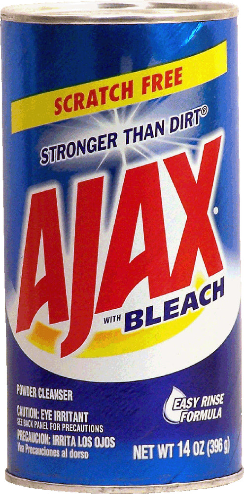 Ajax Powder Cleanser with Bleach, Scratch Free Stronger than Dirt, 14 oz