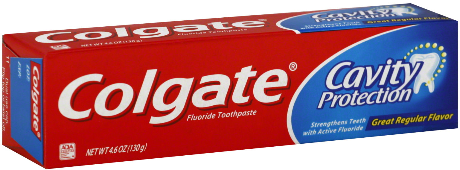 Colgate Toothpaste, Cavity Protection, 4.6 oz