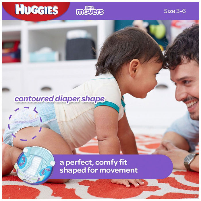 Huggies Little Movers Diapers Size 3, 7-13 kg, 180 ct