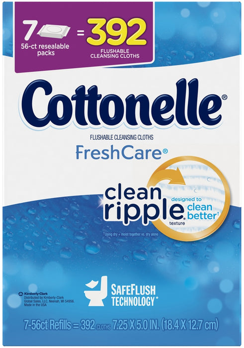 Cottonelle Flushable Cleaninsing Clothes, 39 ct