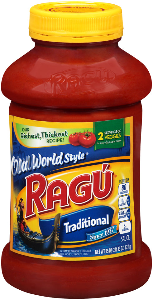 Ragu Old World Style Traditional Pasta Sauce, 45 oz