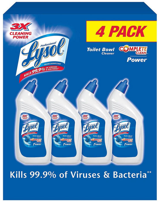 Lysol Power Complete Toilet Bowl Cleaner, 4 x 32 oz