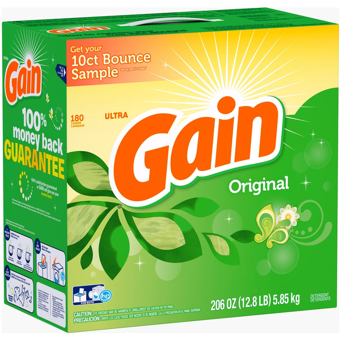 Gain Ultra Laundry Detergent, Original Scent, 206 oz (12.8. lbs)
