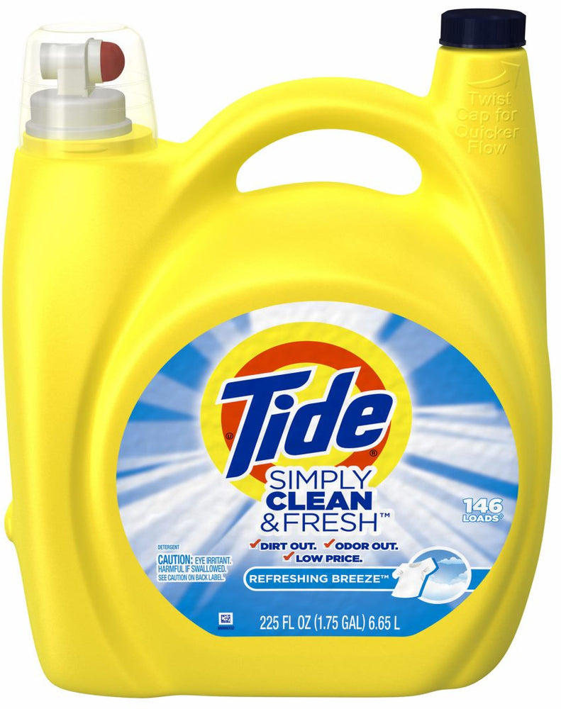 Tide Simply Clean & Fresh Laundry Detergent, Refreshing Breeze, 225 oz
