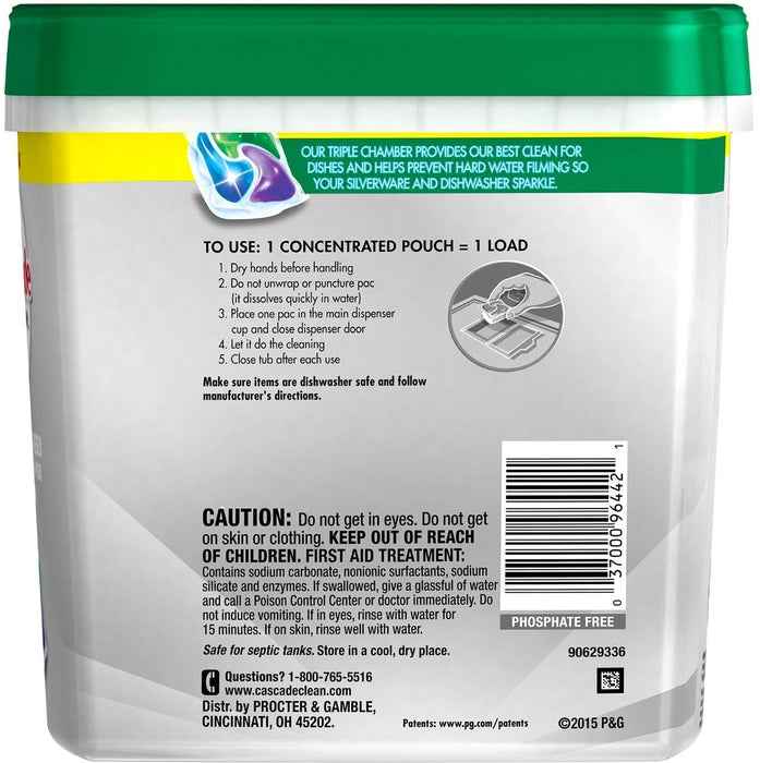 Dawn Cascade Platinum Dishwasher Detergent, Fresh Scent, 88 pacs