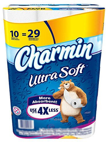 Charmin Soft Toilet Paper, 275 2-ply sheets, 10 rolls