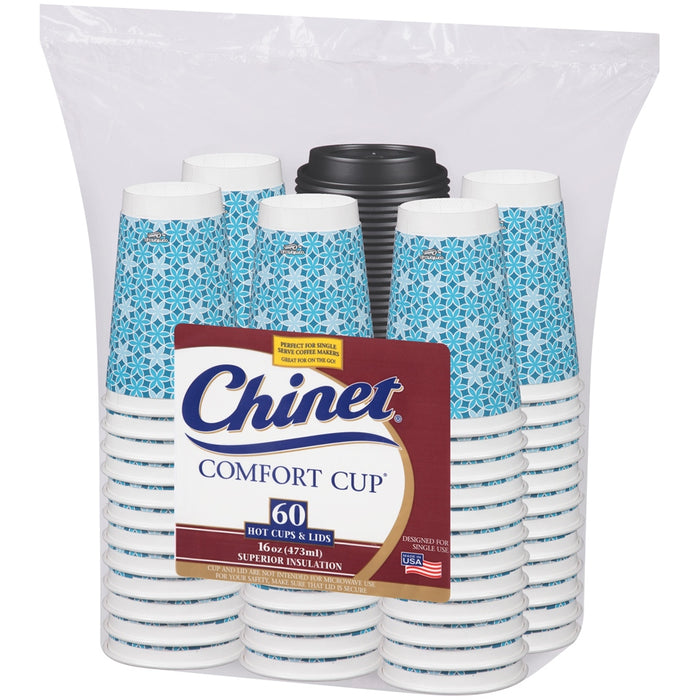 Chinet Comfort Cups, 16 oz, 60 ct