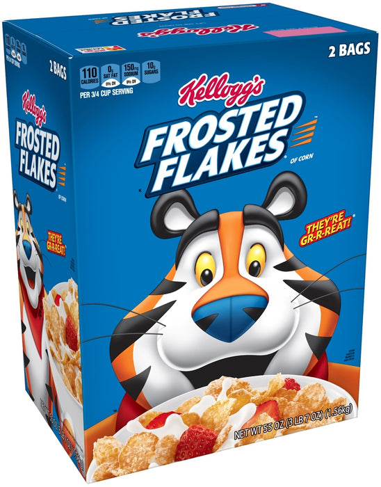 Kellogg's Frosted Flakes Cereal, 2 x 27.5 oz