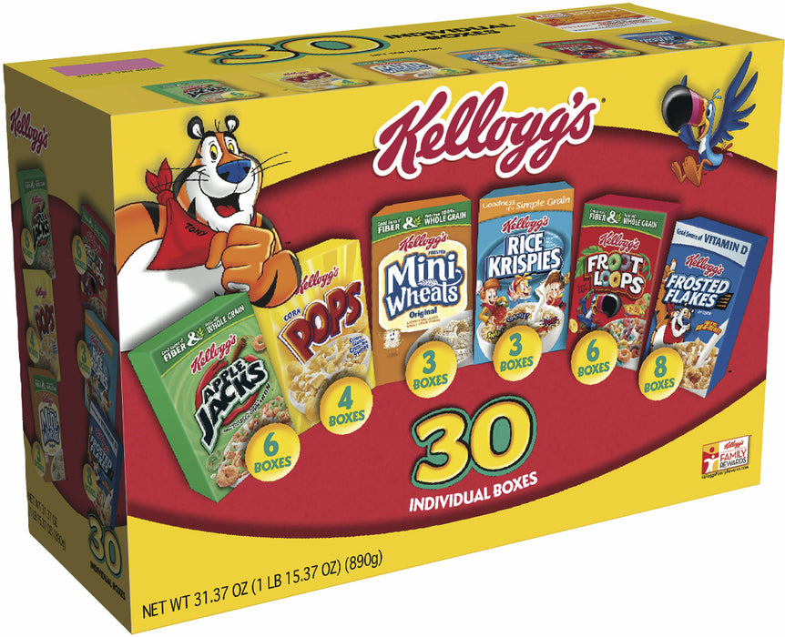 Kellogg's Assortment Pack, 30 pack - 1 oz