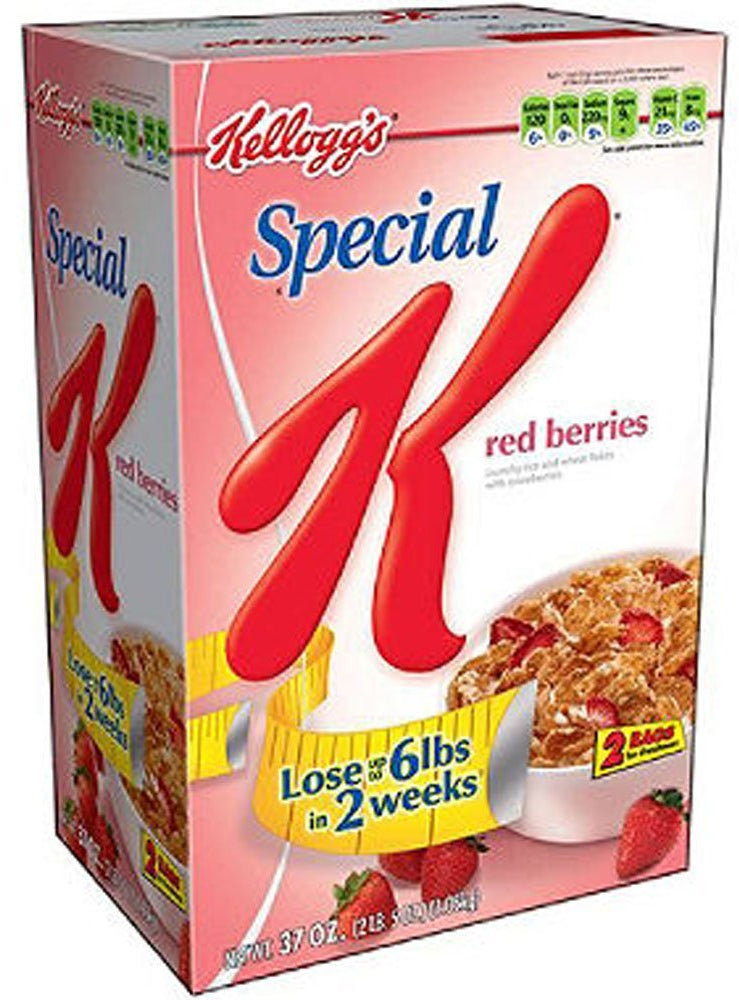 Kellogg's Special K, Red Berries,  2 bags - 18.5 oz